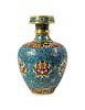 A Cloisonne Enamel  Lotus  Altar Vase Height 10 3/9 in., 26 cm.