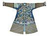 A Blue Ground Kesi Silk Dragon Robe Collar to hem: 53 in., 135 cm.
