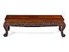 A Carved Hardwood Kang Table Height 14 1/2 x length 48 x width 18 1/2 in., 37 x 122 x 47 cm.