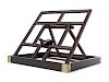 A Zitan Wood Mirror Stand Height 14 1/4 in., 36 cm.