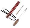 A Japanese Wakazashi Blade length 7 5/8 in., 19 cm. Overall length 12 1/2 in., 32 cm.