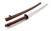 A Japanese Katana Blade length 22 1/2 in., 57 cm. Overall length 37 1/2 in., 95 cm.