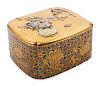 A Japanese Mother-of-Pearl Inlaid Gilt Lacquer Covered Box  Length 4 3/4 in., 12 cm.