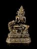 A Nepalese Bronze Figure of a Deity Height 9 1/2 in,. 24 cm.