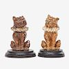 MARTIN BROTHERS Two Toby dog tobacco jars