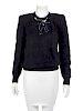 Gucci Black Angora Sweater, 1980s