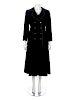 Yves Saint Laurent Haute Couture Black Velvet Smoking Jacket, with Rive Gauche Skirt, 1970s