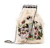 Antique fur embroidered bag