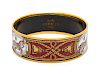 An Hermes Bracelet with Horse Motif in Box,