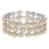 A 31.21ct Yellow & White Diamond Bracelet in 18K