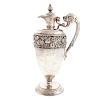 Japanese Sterling Silver Floral Ewer