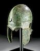 Greek Bronze Chalcidian Helmet - XRF Tested