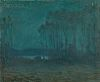 Arthur Clifton Goodwin (American, 1866-1929)  Nocturne with Trees and Lake
