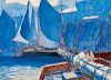 John Whorf (American, 1903-1959)  Securing the Sails