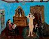 Nicholas Vasilieff (American/Russian, 1892-1970)  Artist Sketching a Nude Model