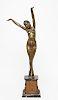 """Demétre Chiparus Art Deco """"Egyptian Dancer"""" Bronze"""