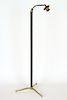 BRASS FLOOR LAMP MANNER OF JACQUES ADNET C.1960