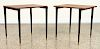 PAIR SWEDISH MODERN ROSEWOOD TABLES C.1960