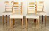 SET 4 SYCAMORE SIDE CHAIRS BY JEAN ROYER C.1940