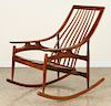 MID CENTURY MODERN ROCKING CHAIR SPINDLE BACK