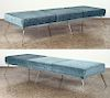 PAIR OF UPHOLSTERED ITALIAN THREE SECTION BENCHES