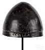 Greek bronze pilos helmet
