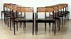 SET 12 MAHOGANY DINING CHAIRS MANNER DUNBER C1950