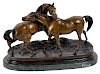 After Pierre Jules Mene, bronze mare and stallion