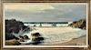 Robert William Wood, oil on canvas coastal scene