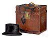 Louis Vuitton leather hat trunk