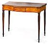 New England Federal mahogany card table, ca. 1800