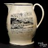 Large Liverpool Herculaneum pitcher, early 19th c