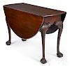 George III mahogany drop-leaf dining table