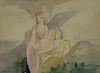 Marie Laurencin - Two Angels by Seashore