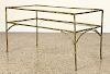 BRONZE BAMBOO STYLE BAGUES COFFEE TABLE C.1960