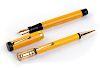 Vintage 1927/1930 set, celluloid Fountain Pen & Pencil Parker Duofold Duofold Mandarin Yellow, man's size, Nib B