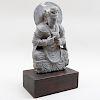 Gandharan Carved Grey Schist Buddha
