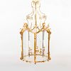 Fine and Large George II Style Gilt-Bronze Hall Lantern