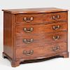 George III Inlaid Mahogany Serpentine-Fronted Chest of Drawers
