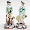 Pair of Staffordshire Pearlware Figures of a Hunter and Companion