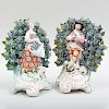Pair of Chelsea Porcelain Bocage Figures of a Shepherd and Shepherdess