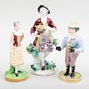 Stevenson & Hancock Derby Porcelain Figure of an Actor and Two Other English Porcelain  Figures