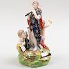 English Porcelain Figure Emblematic of Music