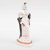 Continental Porcelain Figure with a Polka Dot Dress