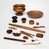 Seventeen Woodenware Items