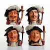 4 ROYAL DOULTON LG CHARACTER JUGS THE THREE MUSKETEERS