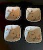 Set of 4 Kakiemon Scalloped Dishes, 17/18th Century
