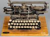 Munson 1 typewriter, copyright Sept. 17th, 1889