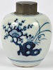 Qing Dynasty Blue and White Tea Caddy, 17/18th Century