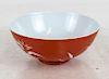 Chinese Iron Red Bowl